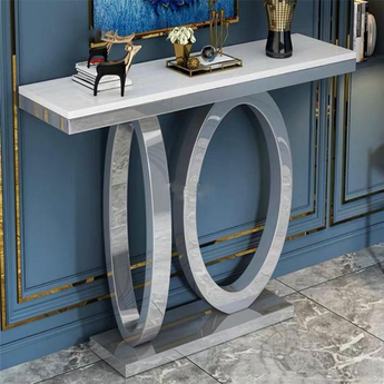 Artistic Designed Marble Top Corner Console Table - My Aashis