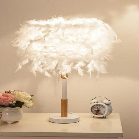 Pretty Feather Designed Table & Floor Lamp - My Aashis