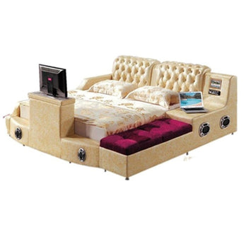 Modern Relaxing Smart Bed with Pure Leather - My Aashis