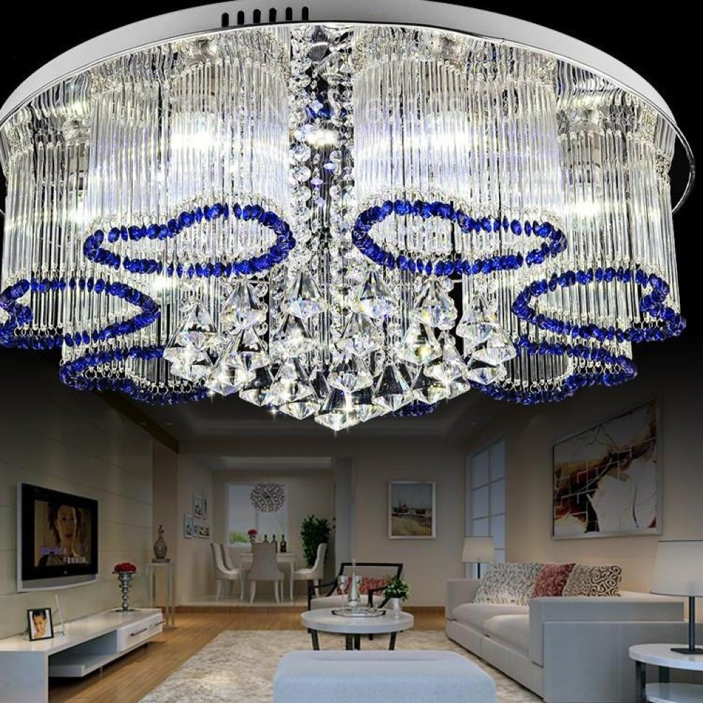 Crystal Round Luxury Led Ceiling Light My Aashis