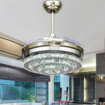 Digital Crystal Shine Fan Chandelier - My Aashis