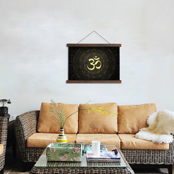 HD OM Printed Hindu Religion Canvas