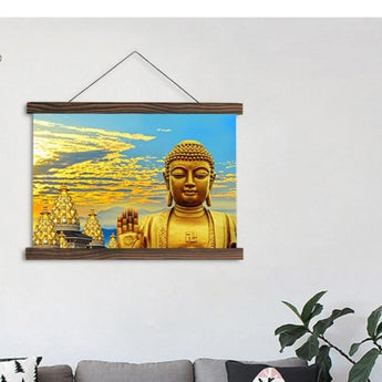 HD Golden Buddha Canvas Painting For Wall Decor - My Aashis