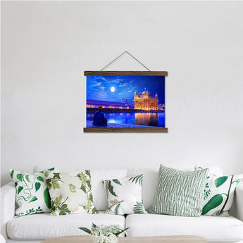 Golden Temple Digital Canvas Painting