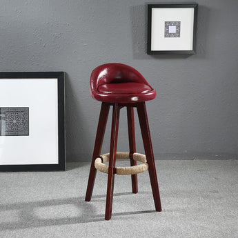 Glossy Leather Finished Stylish Bar Chair - My Aashis