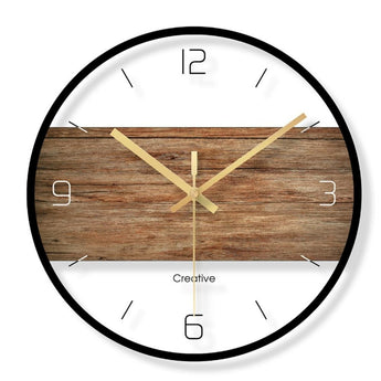 Middle Strip Design Round Glass Wall Clock - My Aashis