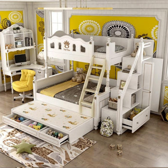 Solid Wood Children's Bed High And Low Bed Bunk Two-Story - My Aashis