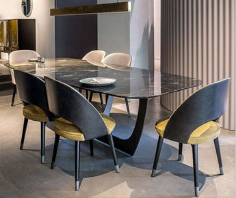 7PCS Stylish Sustainable Dining Table Set With Chairs