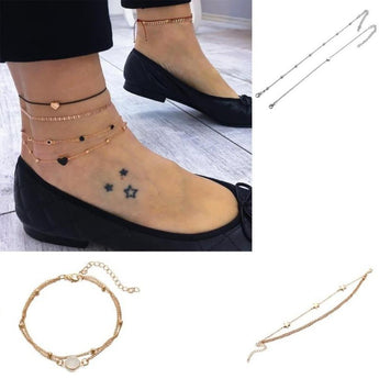 Trendy Golden Silver Anklet Chain Women's Jewelry - My Aashis