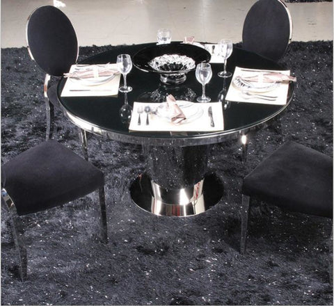 Silver Shine Bright Metal Dining Set  Furniture - My Aashis