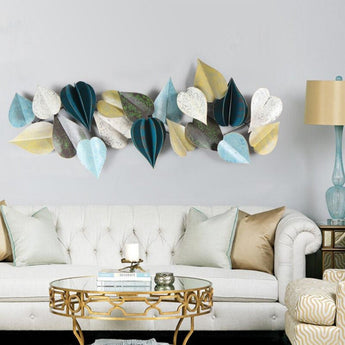 3D Bright Leaves Pattern Wall Hanging