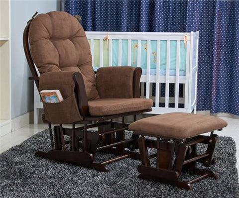 Solid Frame Rocking Chair With Ottoman - My Aashis