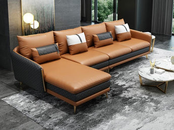 Stylish and Trendy Sectional Leather Sofa Furniture 3 Seater+Chaise
