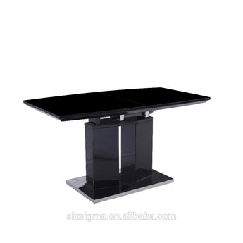 Black High Glossy Modern Table - My Aashis