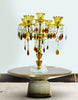 "Vintage 16"" 5-light Gold Metal Candelabra Wedding Centerpiece Candle Holder - My Aashis"