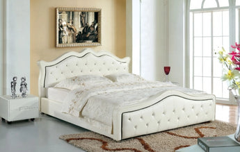 Designer Real Leather Soft Bed - My Aashis