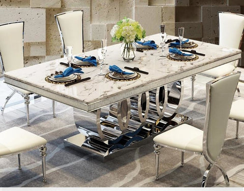 7 PCS Rich Look Dining Table Set For Dining Decoration - My Aashis