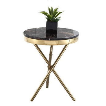 Gold Plated X-Shaped Round Table Furniture