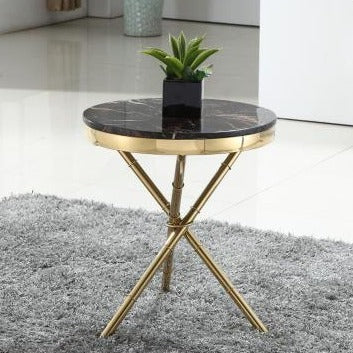Simple Trendy Marble Top Side Table - My Aashis