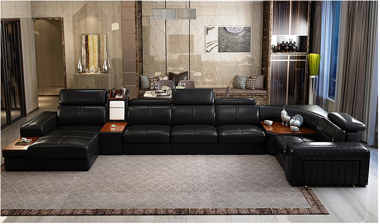 Genuine Leather Modern Sectional Sofa For Living Room Sofa