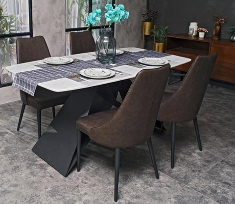 Unique Marble Top Dining Set Furniture - My Aashis