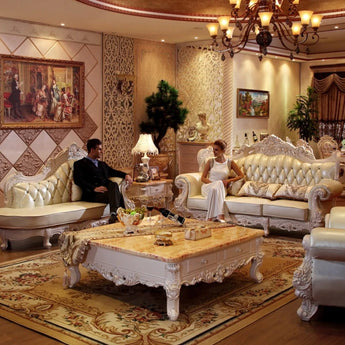 Luxury Leather Sofa Set For Living Room - My Aashis