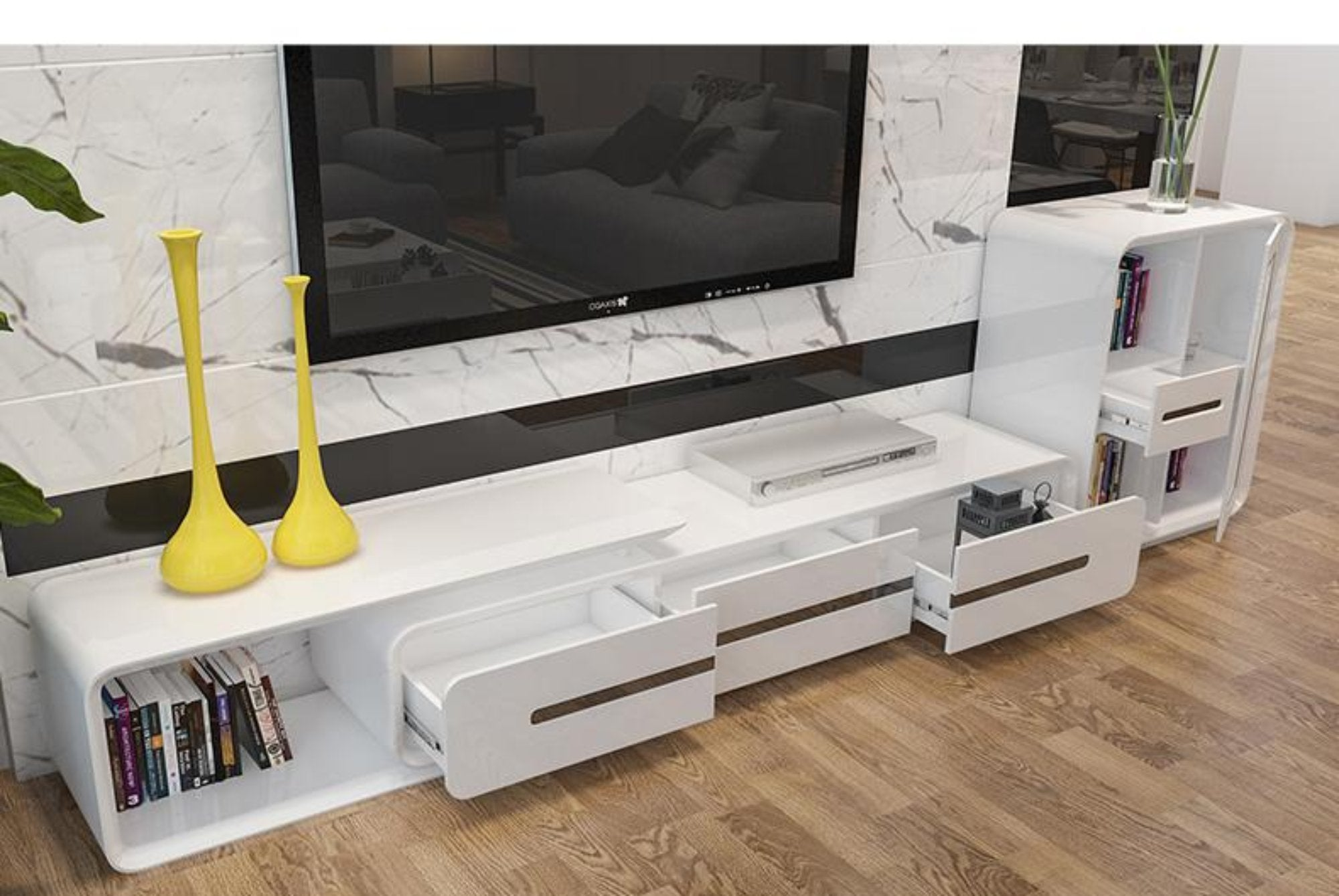 Wooden Panel Tv Stand Modern Living Room Home Furniture My Aashis