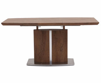 Extendable Dining Table With Stainless Steel Legs