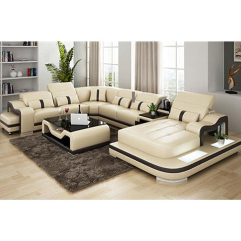 Leisure Style Luxury Sectional Sofa With Coffee Table For Home Furniture - My Aashis
