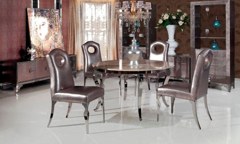 Marble With Leather Luxury Full Set Furniture For Dining Room - My Aashis