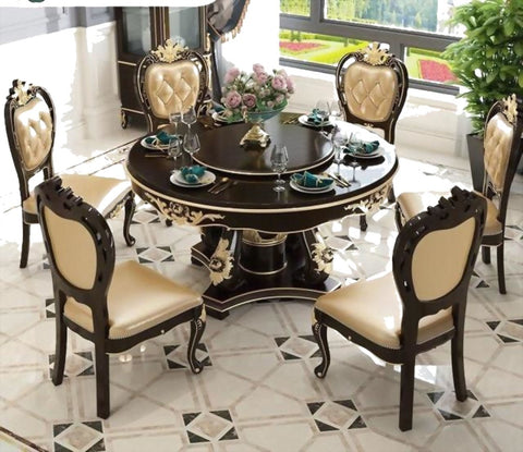 Classical Style Flower Pattern Dining Table - My Aashis