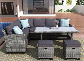 Modern Style Classic Patio Outdoor Sofa Set - My Aashis