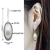 Stylish Oval Shaped Pearl Earrings For Regular Wear - My Aashis