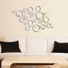 Removable Vinyl 24pcs Circles Mirror Wall Stickers Decals Decoration - My Aashis