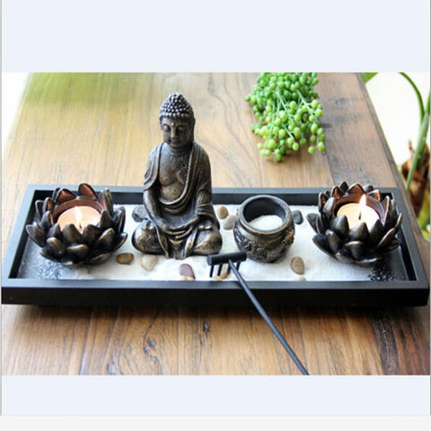 Modern Style of Decorative Buddha Candle Holder With Incense Stick Holder - My Aashis