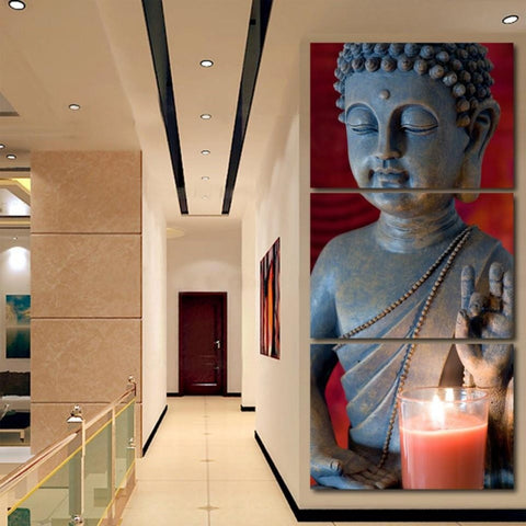 Canvas Still Life Buddha Wall Paintings Decor - My Aashis