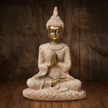 The nature Sandstone Buddha Statue Fashion Sculpture Resin  Hand Carved Figurine Decoration 8x5.5x2.5cm