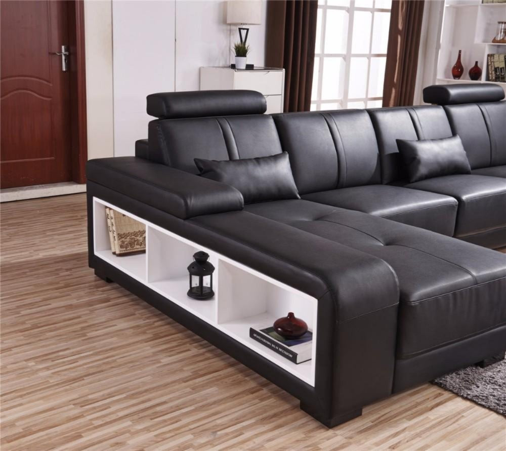 Luxury Sectional Sofa Design U Shape 7 Seater Lounge Couch ...