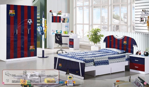 Kids Room Furniture Set Contemporary Design - Soccer Theme - My Aashis