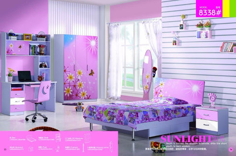 Kids Room Furniture Set Contemporary Design - Pink Theme - My Aashis