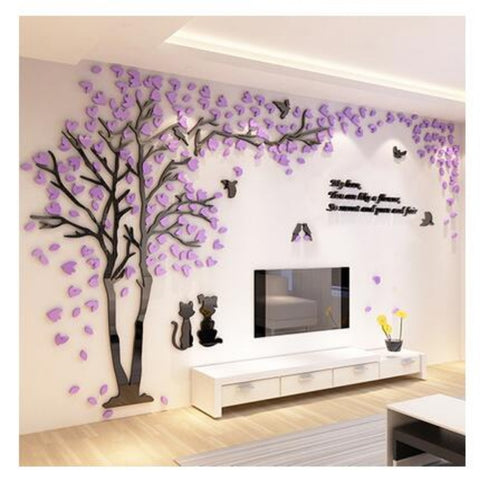 3D Acrylic Wall Sticker Decorative Wall Art - My Aashis