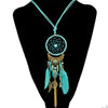 Fashionable Dream Catcher Feather Necklace - My Aashis