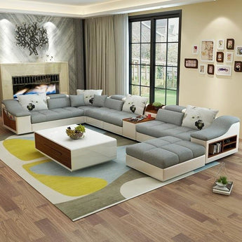 Contemporary Modern Fabric Sofa for Living Room - My Aashis
