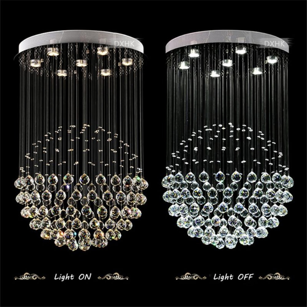 Large modern crystal chandeliers stair creative my aashis large modern crystal chandeliers stair creative aloadofball
