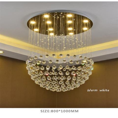 Large Modern Crystal Chandeliers Stair  Creative