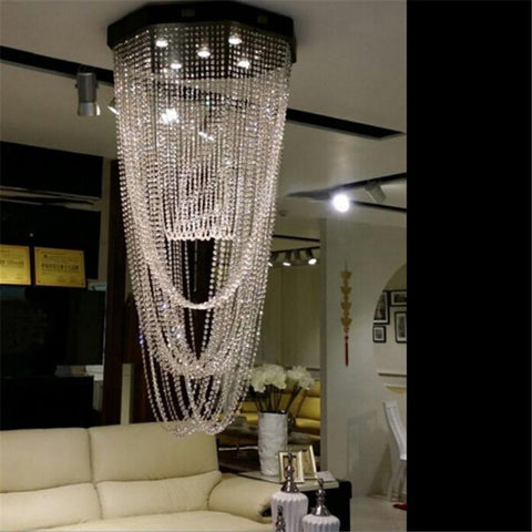 Modern LED Curtain Crystal Light Chandeliers - My Aashis