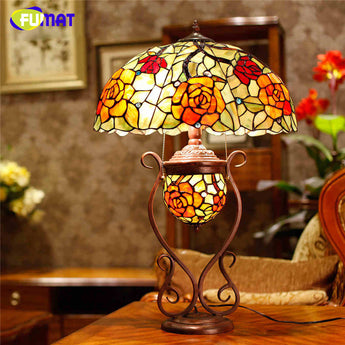 Table Lamp Living Room European Oval Shade LED Table Lights