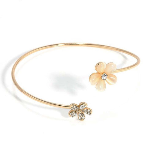 Crystal Golden Open Bracelet Small Daisy Fresh Charm Jewelry