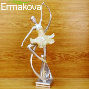 "Dancing Girl sculpture 15.5"" Modern Living Room/TV/Wine Cabinet Home Art Decor Statues (Colorful)"