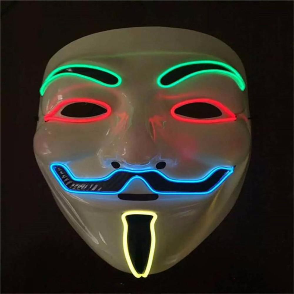 Hot Sale Flashing El Wire Mask Led Glowing Beauty Christmas Party ...